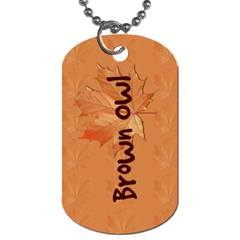 Guiding Dog Tag   Guides Brownie By Patricia W   Dog Tag (two Sides)   E1c3s8jzlkyy   Www Artscow Com Front