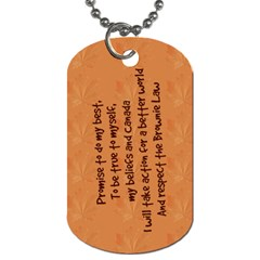 Guiding Dog Tag   Guides Brownie By Patricia W   Dog Tag (two Sides)   E1c3s8jzlkyy   Www Artscow Com Back