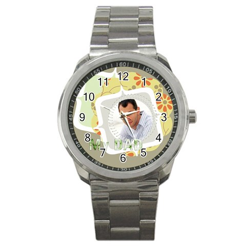 My Dad By Wood Johnson   Sport Metal Watch   Jptuqvntmjhn   Www Artscow Com Front