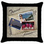 Europe Holiday 2012 Throw Pillow - Throw Pillow Case (Black)
