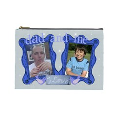 Dad And Me Fathers Day Bits N Bobs Bag By Claire Mcallen   Cosmetic Bag (large)   Vdx58btkgagh   Www Artscow Com Front