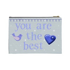 Dad And Me Fathers Day Bits N Bobs Bag By Claire Mcallen   Cosmetic Bag (large)   Vdx58btkgagh   Www Artscow Com Back