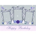 Happy Birthday Card 3D - Birthday Cake 3D Greeting Card (7x5)