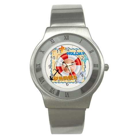 Summer By Joely   Stainless Steel Watch   Fn3453d0f8va   Www Artscow Com Front