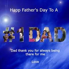 Father s Day Card By Kim Blair   #1 Dad 3d Greeting Card (8x4)   Ak1xkbxd59th   Www Artscow Com Inside