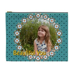 Beautiful Girl By May   Cosmetic Bag (xl)   W6oceiwkyis5   Www Artscow Com Front