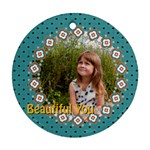 beautiful girl - Round Ornament (Two Sides)