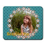 beautiful girl - Large Mousepad