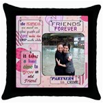rivky - Throw Pillow Case (Black)