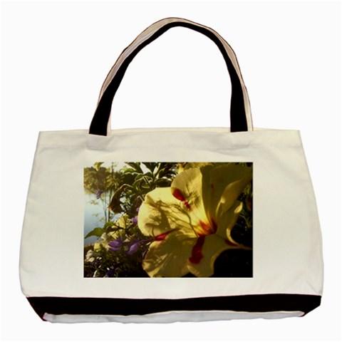 Yellow Flower By Riksu   Basic Tote Bag   2ozfphftu9kx   Www Artscow Com Front