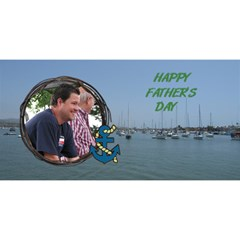 Jimmy Fatherday By Lorianddonald46 Yahoo Com   #1 Dad 3d Greeting Card (8x4)   Jumgiuhrqlpf   Www Artscow Com Front