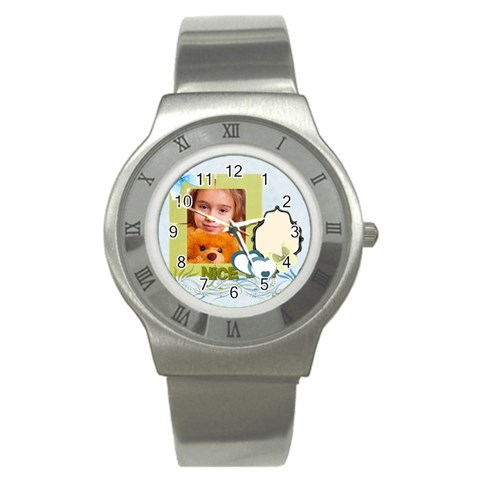 Nice Day By Joely   Stainless Steel Watch   2l6jdkih5gzw   Www Artscow Com Front