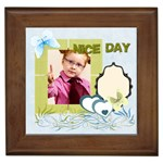 nice day - Framed Tile