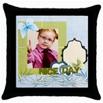 nice day - Throw Pillow Case (Black)