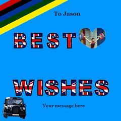 Best Wishes London 2 3d Card By Deborah   Best Wish 3d Greeting Card (8x4)   25gybfz0gg4t   Www Artscow Com Inside
