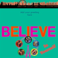 Believe In London 3d Card By Deborah   Believe 3d Greeting Card (8x4)   Hdcy9opv30uf   Www Artscow Com Inside