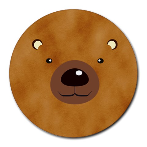Bear By Divad Brown   Round Mousepad   Ta5r0rtpe0qx   Www Artscow Com Front