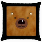 bear - Throw Pillow Case (Black)