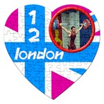 London 12 puzzle - Jigsaw Puzzle (Heart)