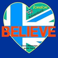 Love London And Believe 3d Card By Deborah   Believe 3d Greeting Card (8x4)   J39t3bzfcqo2   Www Artscow Com Inside