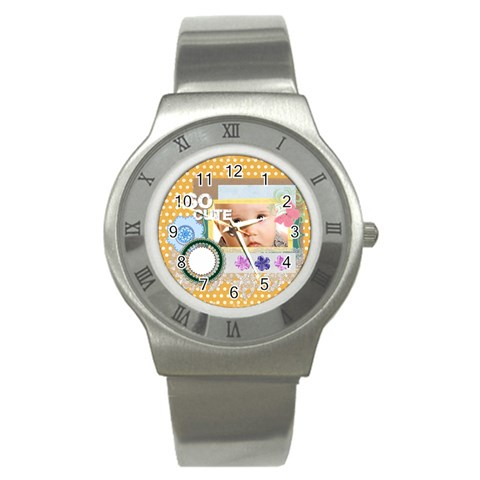So Cute By Joely   Stainless Steel Watch   O6c3rie1m9oh   Www Artscow Com Front