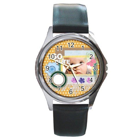 So Cute By Joely   Round Metal Watch   I6eencz0aci3   Www Artscow Com Front