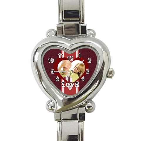 Love By May   Heart Italian Charm Watch   R0iiyt7glbth   Www Artscow Com Front