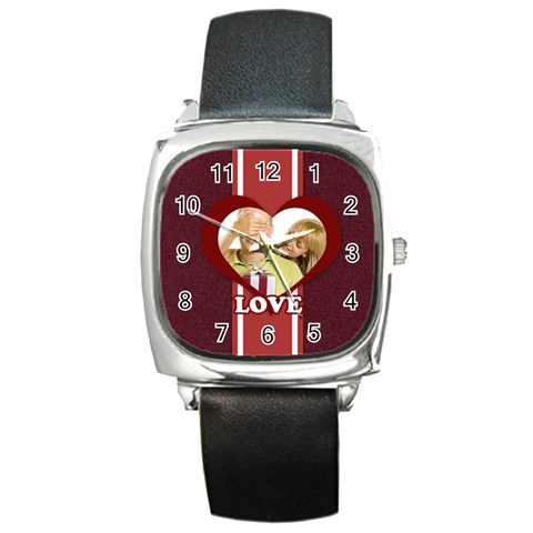 Love By May   Square Metal Watch   Bq53ocbl82wr   Www Artscow Com Front
