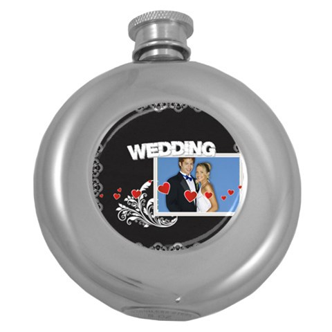 Wedding By Joely   Hip Flask (5 Oz)   Xnrr6kvc4g98   Www Artscow Com Front