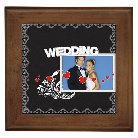 Wedding By Joely   Framed Tile   Ied36gb6q2dv   Www Artscow Com Front