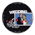 wedding - Round Mousepad