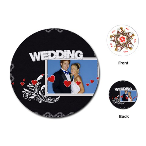 Wedding By Joely   Playing Cards (round)   Ixhhg5jkydyl   Www Artscow Com Front