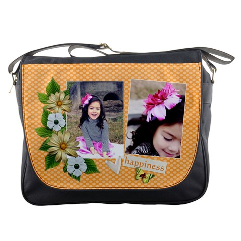 Messenger Bag   Happiness By Jennyl   Messenger Bag   Oh4rajtjceiu   Www Artscow Com Front