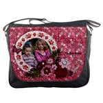 Pink Flowers-Messenger Bag