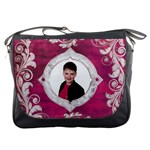 Deco Magenta Messenger Bag