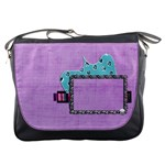 Purple zebra - Messenger Bag