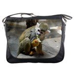 Messenger Bag - Monkey Eating Lettuce