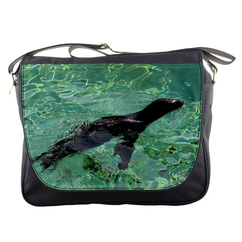Messenger Bag   Swimming Sea Lion By Jenessa   Messenger Bag   Nyza5wvfqsje   Www Artscow Com Front