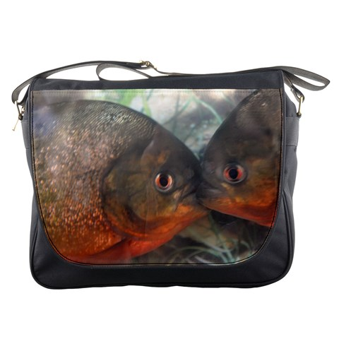 Messenger Bag   Kissing Fish By Jenessa   Messenger Bag   480n5vr1ucql   Www Artscow Com Front