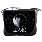 Black butterfly bag - Messenger Bag