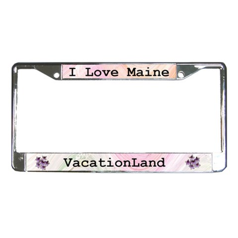 Maine License Plate Frame By Kim Blair   License Plate Frame   T6kbi11ex5ig   Www Artscow Com Front