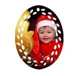 Dove of Peace Filigree Oval Ornament - Ornament (Oval Filigree)