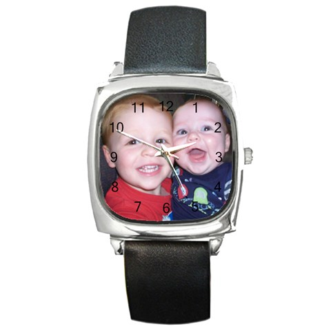 Dad By Kirstin   Square Metal Watch   Wmlryw41eccq   Www Artscow Com Front