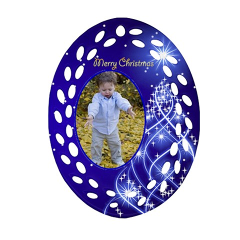 Chstmas Filigree Oval Ornament 2 By Deborah   Ornament (oval Filigree)   Abh3q3tcancl   Www Artscow Com Front