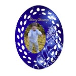 Chstmas Filigree Oval Ornament 2 - Ornament (Oval Filigree)