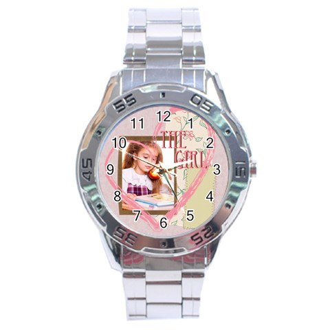The Girl By Joely   Stainless Steel Analogue Watch   Vc5xd9u66wz4   Www Artscow Com Front