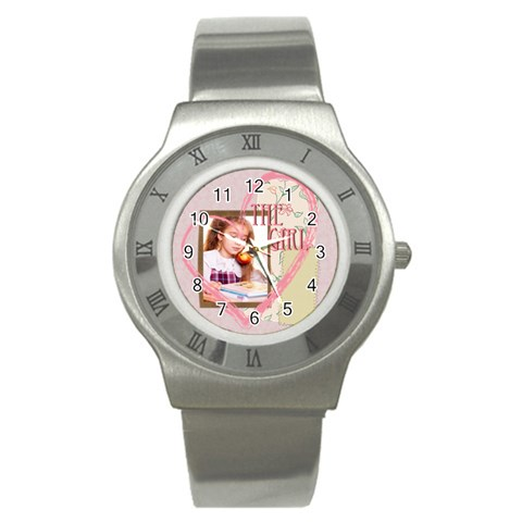 The Girl By Joely   Stainless Steel Watch   Dmiz4iuf0xgv   Www Artscow Com Front