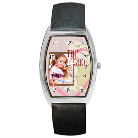 The Girl By Joely   Barrel Style Metal Watch   7dkzowx1v79o   Www Artscow Com Front