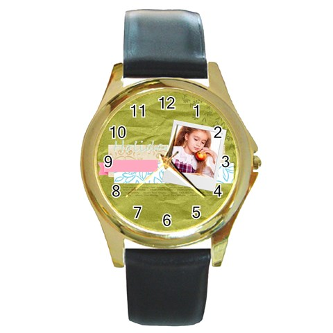 Holiday By Joely   Round Gold Metal Watch   Q5bny9hn5pws   Www Artscow Com Front