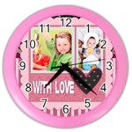 with love - Color Wall Clock